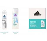 Adidas Pre Invisible antiperspirant dezodorant sprej pre ženy 150 ml + sprchový gél 250 ml, kozmetická sada