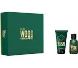 Dsquared2 Green Wood toaletná voda pre mužov 30 ml + sprchový gél 50 ml, darčeková sada
