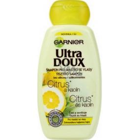 Garnier Ultra Doux Citrus a Kaolín šampón pre mastiace sa vlasy 250 ml