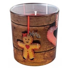 Bolsius Vianočný perník vonná sviečka v skle 72 x 80 mm