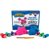 Mad Mattr Kinetický piesok modelovacie Kreatívny set ružová 140 g + modrá 140 g + vykrajovadlá 6 kusov
