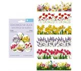 Zmršťovacia dekorácie fólie na vajcia Jarné kvety 12 kusov