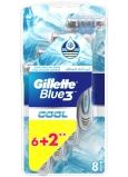 Gillette Blue 3 Cool 3 brity holiaci strojček pre mužov 8 kusy