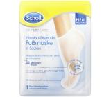 Scholl PediMask Expert Care 20 minútová vyživujúce maska na nohy s makadamovými olejom, 1 pár navliekacích ponožiek