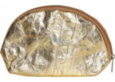Albi Eko kozmetická taštička vyrobená z pratelného papiera Zlatá 22 x 14 x 6 cm