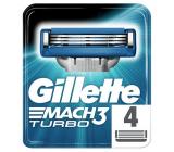 Gillette Mach3 Turbo náhradné hlavice 4 kusov pre mužov