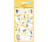 Arch Samolepky do domácnosti, na darčeky Happy Birthday žlté 11 x 23,5 cm