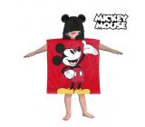 Pončo Mickey Uterák osuška s kapucňou - Cca. rozmery: 60 x 120 cm