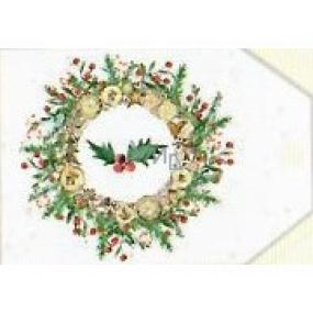 Nekupto Vianočné kartičky na darčeky Veniec s cezmínou 5,5 x 7,5 cm 6 kusov