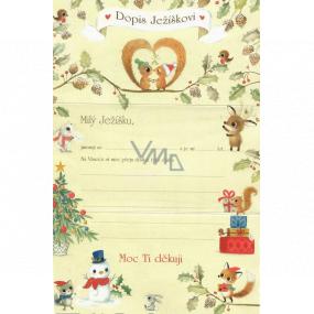 Ditipo List Ježiškovi veveričky 195 x 290 mm