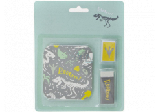 Albi Sada lepiacich pásikov, strúhadlo a guma Dino 14 x 17 cm