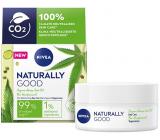 Nivea Naturally Good zjemňujúci denný krém s konopným olejom pre všetky typy pleti 50 ml