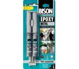 Bison Epoxy Metal dvojzložkové epoxidové lepidlo s kovovým zafarbením 24 ml