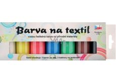 Sada farieb na svetlý textil perleť 7 x 15 g + šablóny