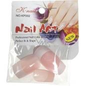 Natural Art Nails umelé nechty rovné francúzska manikúra ružová 10 kusov 806