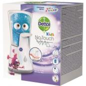 Dettol Kids Aloe Vera Dobrodruh bezdotykový dávkovač mydla a náplň s mydlom 250 ml