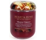 Heart & Home Hrejivé Vianoce Sójová vonná sviečka veľká horí až 70 hodín 340 g