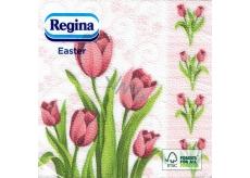 Regina Veľkonočné papierové obrúsky Tulipány 1 vrstvové 33 x 33 cm 20 kusov