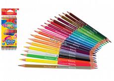 Colorino Pastelky trojhranné, obojstranné 24 farieb