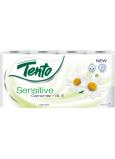 Tento Sensitive Camomile + vitamín E / Sensitive Pure parfumovaný 3vrstvový 8 kotúčov