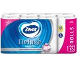 Zewa Deluxe Aqua Tube Delicate Care toaletný papier 3 vrstvový 150 útržkov 16 kusov, rolička, ktorú môžete spláchnuť