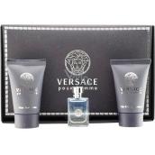 Versace pour Homme toaletní voda 5 ml + sprchový gel 25 ml + balzám po holení 25 ml, dárková sada
