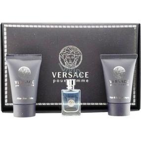Versace pour Homme toaletná voda 5 ml + sprchový gél 25 ml + balzam po holení 25 ml, darčeková sada