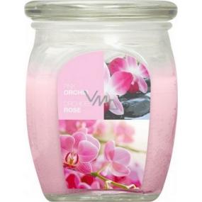 Bolsius Aromatic Pink Orchid - Ružová orchidea vonná sviečka v skle 92 x 120 mm 830 g, doba horenia 100 hodín