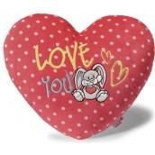 Nici Love You Polštář plyšový srdce 40 cm