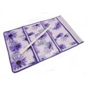 Vreckár na zavesenie fialový 59 x 36 cm 9 vreciek 715