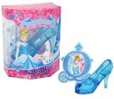 Disney Princess Cinderella Glass Slipper Popoluškin črievičku toaletná voda pre deti 30 ml + prívesok, darčeková sada