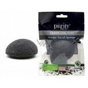 Purity Plus Charcoal odličovacie hubka Konjac s aktívnym uhlím 1 kus