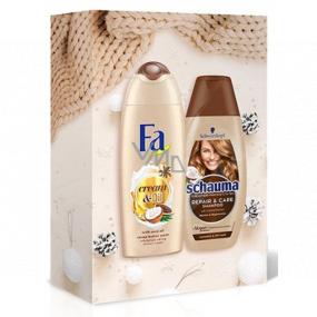 Fa Cream & Oil Cacao & Coco sprchový gél 250 ml + Schauma Repair & Care šampón na vlasy 250 ml, kozmetická sada