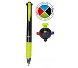 Spoko 4click guľôčkové pero 4 farebné 0,5 mm