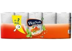 Big Soft Peach Broskev parfémovaný toaletní papír s vůní broskve 2 vrstvý 8 x 200 útržků + 2 role