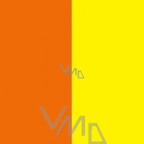 Dárkový balící papír dvoubarevný oranžovo-žlutý 2m x 0,7m