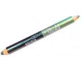 Princessa Davis Eye Double Colour očné tiene v ceruzke 025 Svetlo zelená s trblietkami - tmavo zelená s trblietkami 6 g
