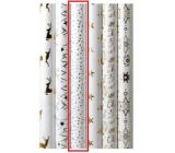 Zöllner Vianočný Luxusné baliaci papier s razbou White biely - strieborné bodky 1,5 mx 70 cm