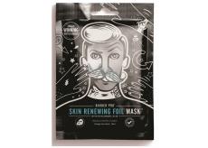 Barber Pre Pleťová maska obnovujúcej sa zahrievací fóliou s obsahom kyseliny hyalurónovej a koenzýmu Q10 pre mužov 25 ml