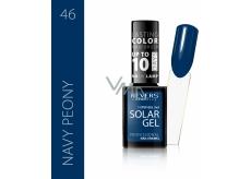 Reverz Solar Gél gélový lak na nechty 46 Navy Peony 12 ml