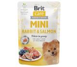 Brit Care Mini Rabbit & Salmon Fillets In Gravy kompletné superprémiové krmivo pre dospelé psy mini plemien kapsička 85 g