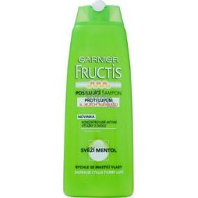 Garnier Fructis Svieža Mentol proti lupinám šampón pre rýchlo sa mastiace vlasy 250 ml