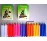 Romantické světlo Vánoční svíčky krabička hoření 90 minut oranžové 12 kusů