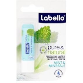 Labello Pure & Natural Mint & Minerals balzam na pery s chladivým osviežením 5,5 g