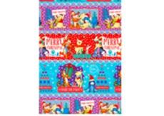 Ditipo Disney Vánoční balicí papír dětský barevný Medvídek Pú 100 x 70 cm 2054909 2 kusy