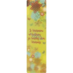 Albi Záložka Flip Flop 3D S krásnou knihou 19 x 5 cm
