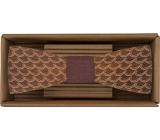 Bohemia Gifts & Cosmetics Dřevěný motýlek Vlna 12,5 cm