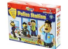 Jumping Clay Mesto - Policajná stanica samoschnoucí modelovacie hmota pre deti 5+