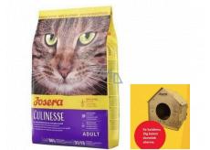 Josera Culinesse Kuracie mäso + losos kompletné krmivo pre dospelé mačky žijúce v byte i vonku 2 kg + domček pre mačky