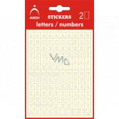 Arch Samolepiace písmená AZ Biela + bonus, výška 5 mm 2 archy 17 x 10 cm